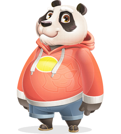 Cool Panda Cartoon Vector Character