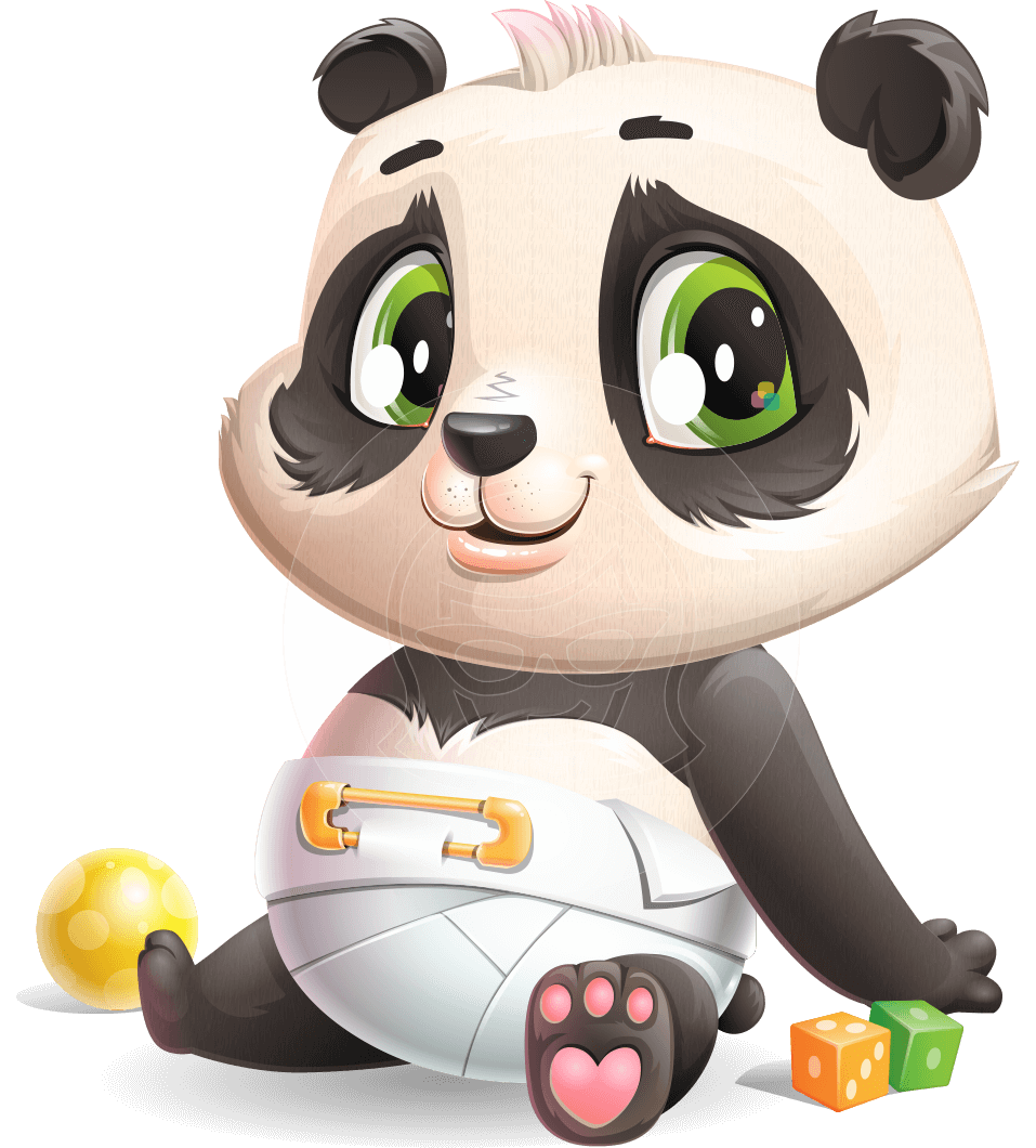 Baby Panda Vector Cartoon Character