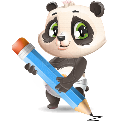 Baby Panda Vector Cartoon Character
