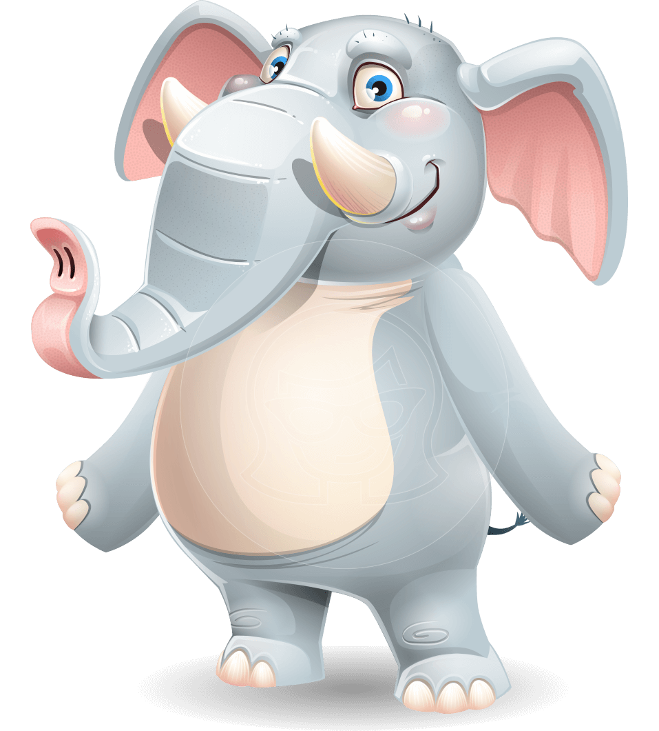 Elephant Cartoon Vector Character
