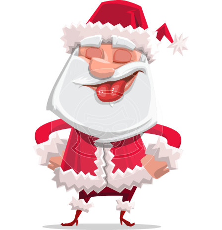 Santa Claus Cartoon Flat Vector Character