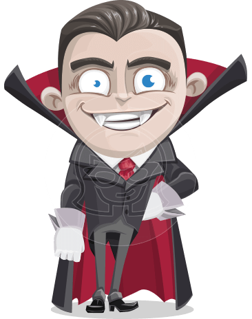 Little Vampire Kid Vector Cartoon Character