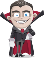 Little Vampire Kid Vector Cartoon Character AKA Graham Vamp