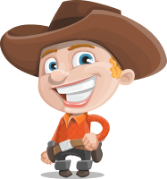 Little Cowboy Kid Cartoon Vector Character AKA Reynold the Lil' Cowboy