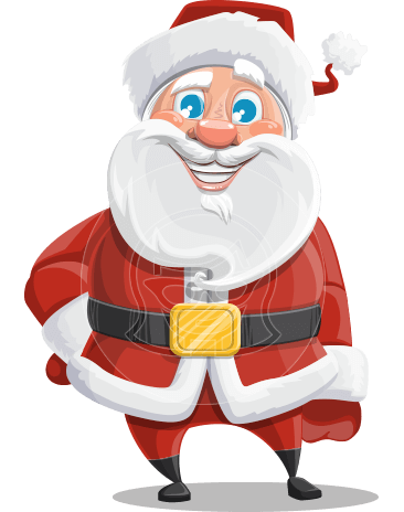 Santa Claus Cartoon Vector Character AKA Mr. Claus North-pole