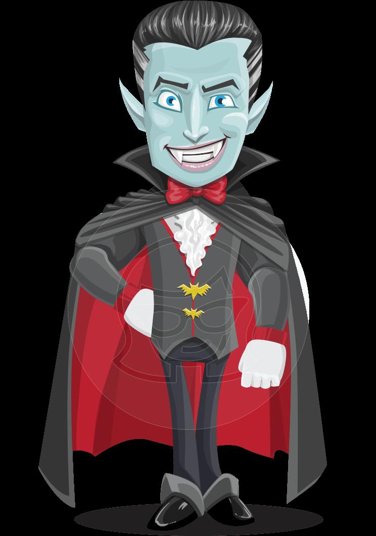 Halloween Vampire Vector Cartoon Character Graphicmama