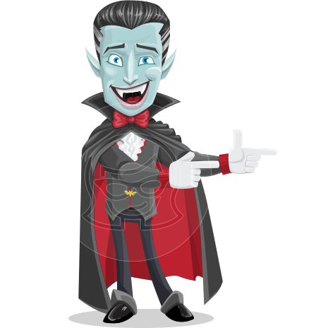 Halloween Vampire Vector Cartoon Character