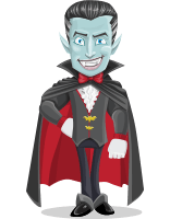 Halloween Vampire Vector Cartoon Character AKA Drake Fangs