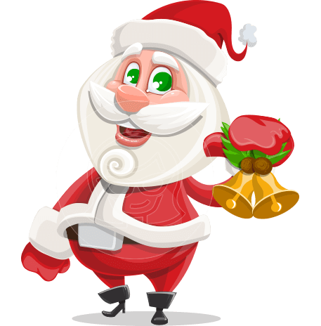 Small Santa Vector Cartoon Character