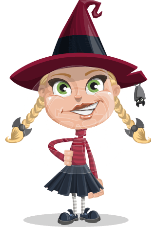 Little Witch Kid Cartoon Vector Character