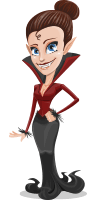 Pretty Female Vampire Cartoon Vector Character AKA Medusa Fang-legant