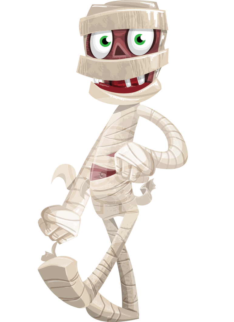 Funny Mummy Vector Cartoon Character