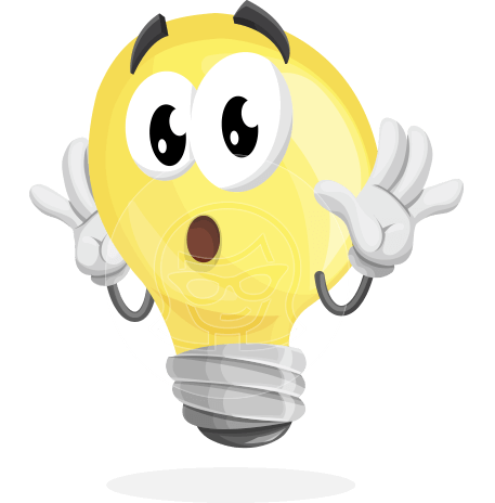 Light Bulb Cartoon Vector Character