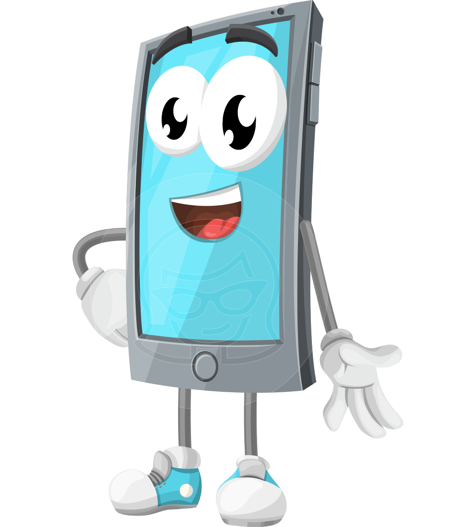 Smart Phone Cartoon Vector Character