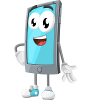 Smart Phone Cartoon Vector Character AKA Smarty Callen