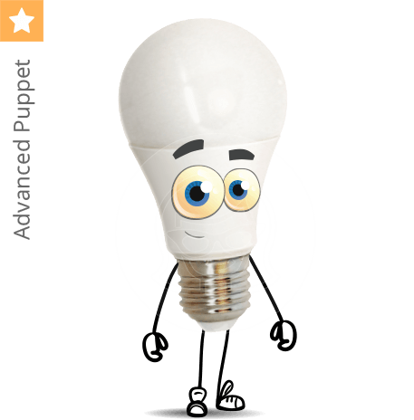 Light Bulb Character Animator Puppet