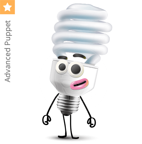 Cute CFL Light Bulb Character Animator Puppet