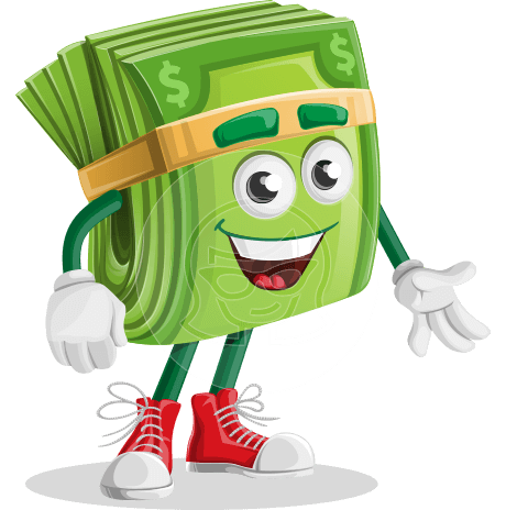 Dollar Bill Cartoon Money Vector Character