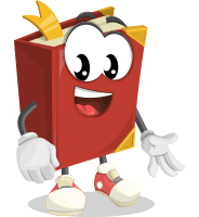 Cute Book Cartoon Vector Character AKA Bookie Paperson