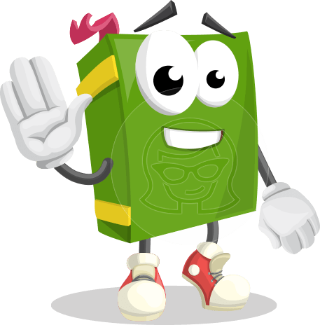 School Book Cartoon Vector Character AKA Jimmy Pagemark