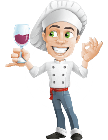 Cartoon Cook Vector Character AKA Mangiarino Yummy