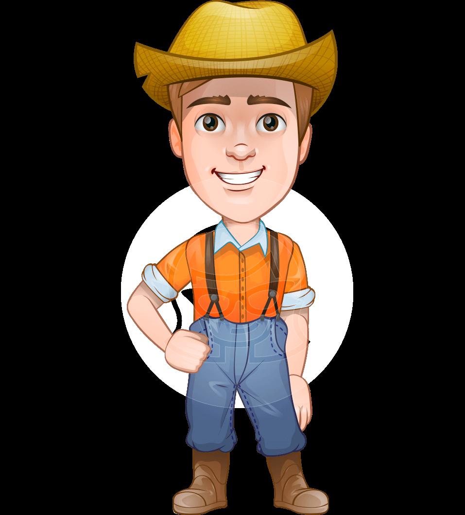 Farmer Man With Hat Cartoon Vector Character Aka Arlo Graphicmama