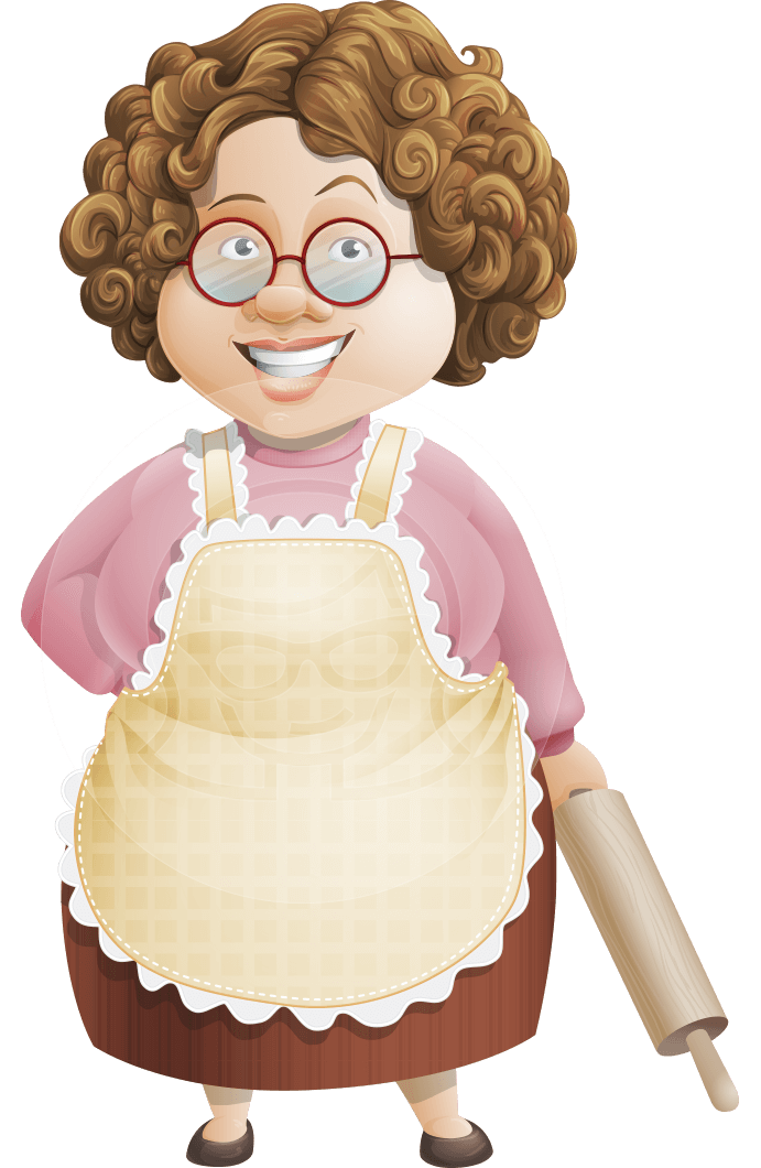 Grandma Vector Cartoon Character - 112 Illustrations Set