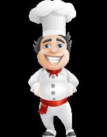 Chubby Chef Cartoon Vector Character AKA Rosmarinio Fluffy