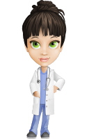 Female Medic Cartoon Vector Character AKA Dr. Fran First-Aid