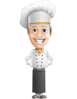 French Chef Cartoon Vector Character AKA Raphael MasterChef