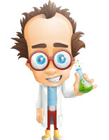 Professor Chemist Cartoon Scientist Vector Character AKA Professor Nuts-chmitz