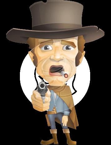 Cowboy Man Cartoon Vector Character AKA Mr. Western