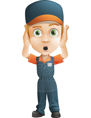 Young Delivery Man Cartoon Vector Character AKA Brandon the Supplier