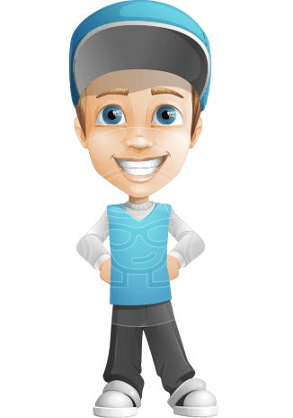Fast Delivery Guy Cartoon Vector Character AKA Scotty No-delay