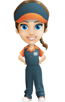 Female Delivery Service Worker Cartoon Vector Character AKA Lizzy