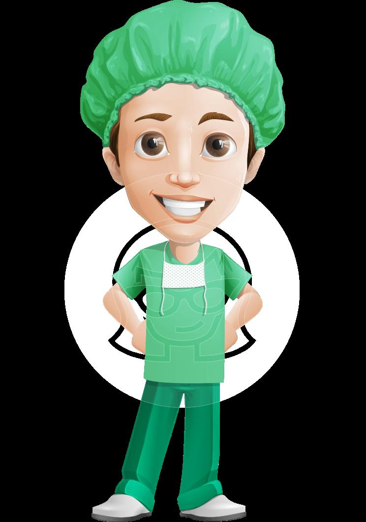 Surgeon Cartoon Vector Character AKA Dr. Henry Scalpel