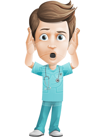 Young Doctor Cartoon Vector Character AKA Joshua Med Assistant