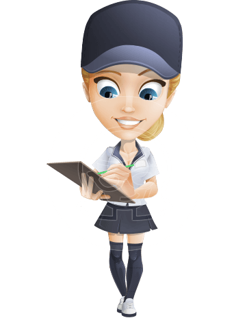 Pretty Delivery Girl Cartoon Vector Character AKA Cammy Delivers