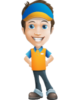 Charming Courier Guy Cartoon Vector Character AKA Tony On-track