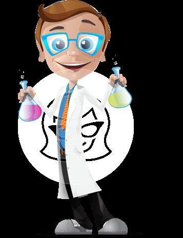 Mad Scientist Guy Cartoon Vector Character AKA Doctor Dorkster
