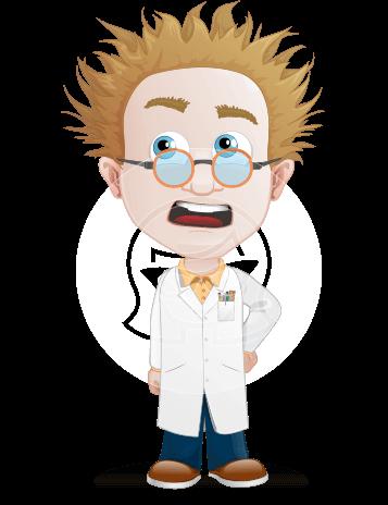 Simple Professor Cartoon Vector Character AKA Professor Smartenstein