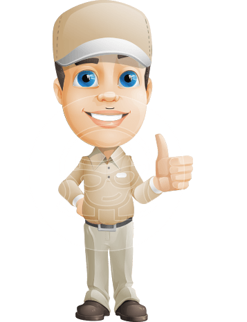 Parcel Delivery Person Cartoon Vector Character AKA Hyuk Dependable