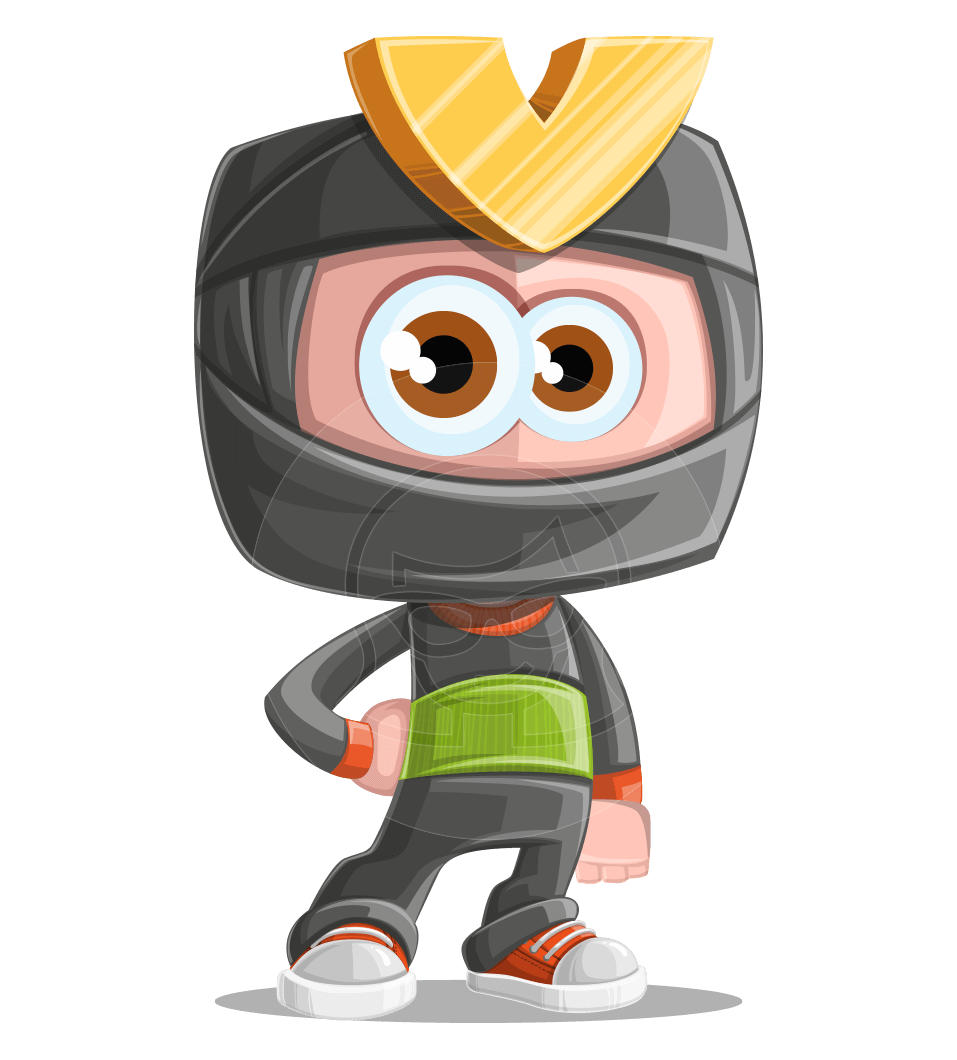 Cute Ninja Cartoon Vector Character AKA Arata