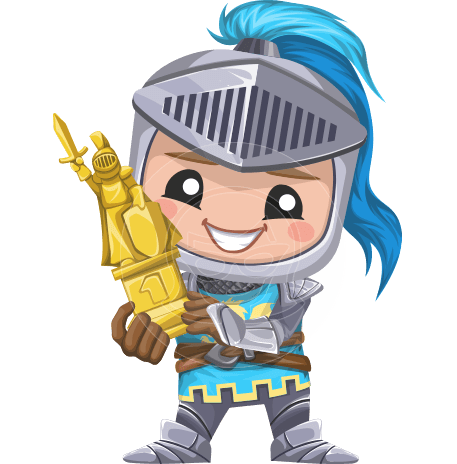 Little Knight Kid Cartoon Vector Character AKA Bernard Nobleman