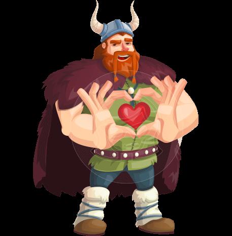 Viking Warrior Cartoon Vector Character AKA Bjorn Strong