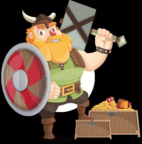 Funny Viking Cartoon Vector Character AKA Earl Sigrunn