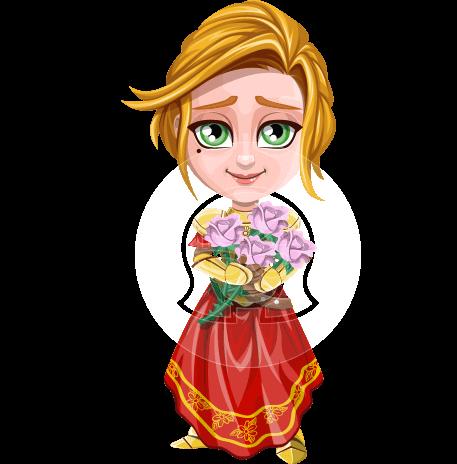 Blonde Princess Cartoon Vector Character AKA Lady Knightly
