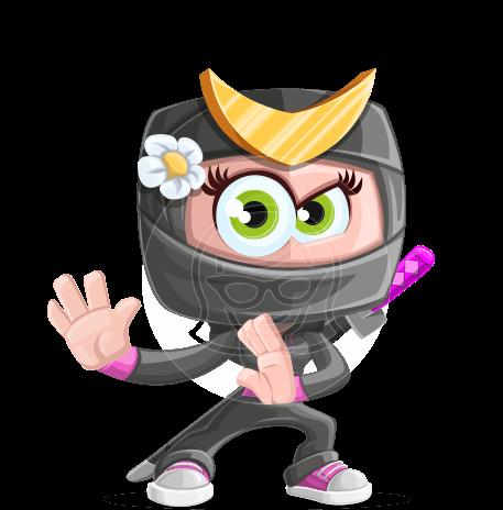 Japan Ninja Girl Cartoon Vector Character AKA Miho