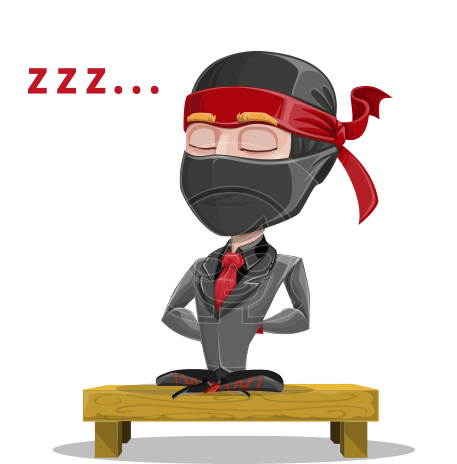 Business Ninja Cartoon Vector Character AKA Daikoku