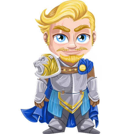 Knight with Armor Cartoon Vector Character AKA Dwight the Brave